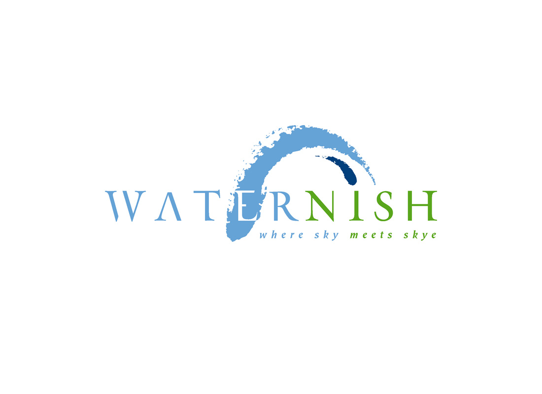 Visit Waternish (a visitor destination group) required a logo to convey the uniqueness of its northerly location on the Isle of Skye.