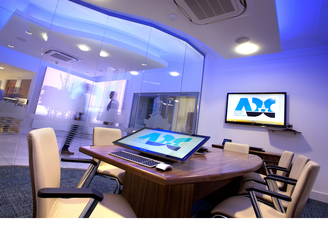 Interior photography of Aberdeen Drilling Consultants new offices - Aberdeen.