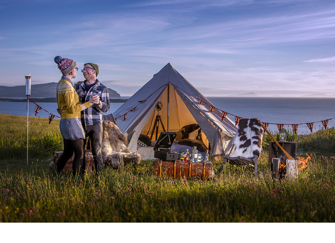 Photography for Skyeskyns Glamping advertising campaign  - Skye.